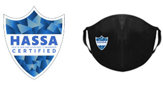HASSA Logo and Face Mask