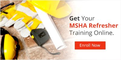 MSHA Refresher Training Online