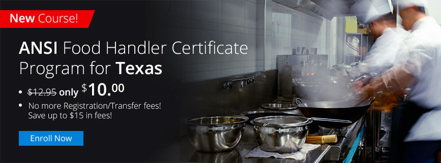 Food and Beverage: ANSI Food Handler Certificate Program for Texas