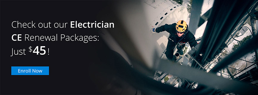 Electrician CE Renewal Packages