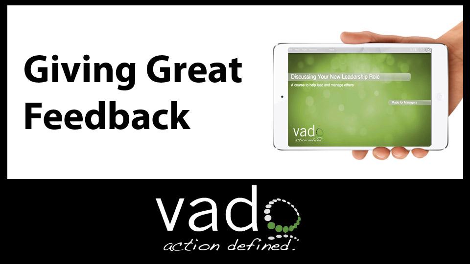 Giving Great Feedback