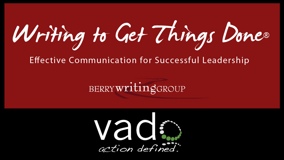 Competency Development Writing to Get Things Done