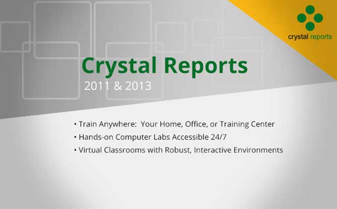 Crystal Reports Advanced Crystal Reports 2011 and 2013 (CR13L02)