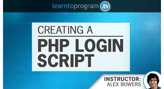 PHP Tutorial: PHP Login Script Creation